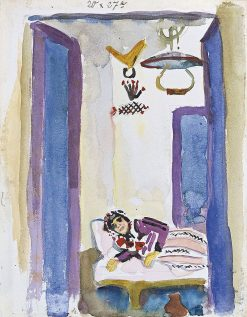 Woman on a Divan | August Macke | Oil Painting