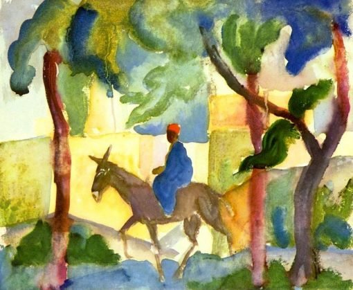 Donkey Rider | August Macke | Oil Painting