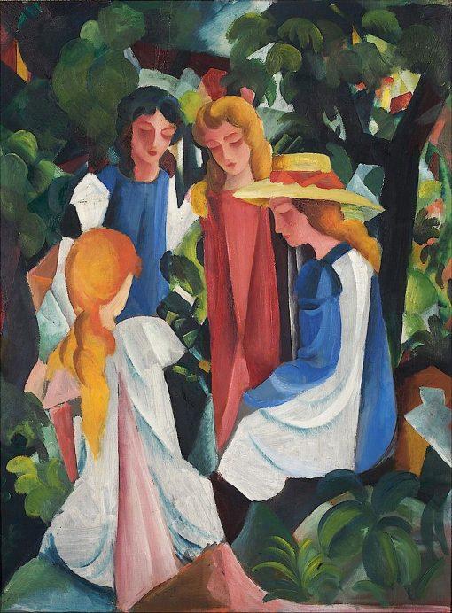 Four Girls | August Macke | Oil Painting