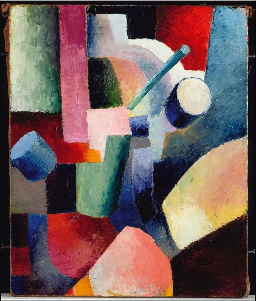 Colored Composition of Forms | August Macke | Oil Painting