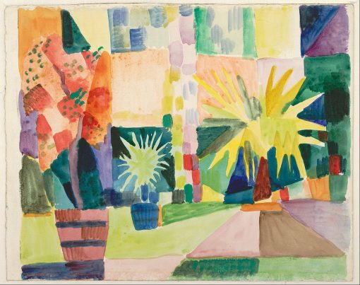 Garden on Lake Thun | August Macke | Oil Painting