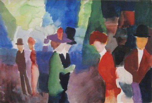 People Who Meet | August Macke | Oil Painting