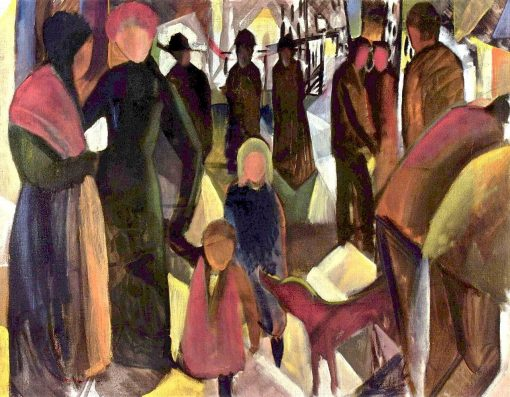Farewell | August Macke | Oil Painting