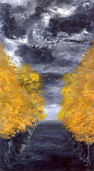 Alley | August Strindberg | Oil Painting