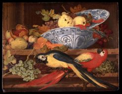 Still-Life with Fruit and Macaws | Balthasar van der Ast | Oil Painting