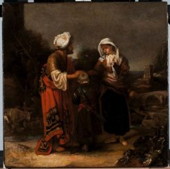 Hagar and Ishmael Taking Leave of Abraham | Barent Fabritius | Oil Painting