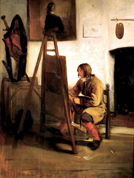 Young Painter in His Studio   Barent Fabritius   Oil Painting