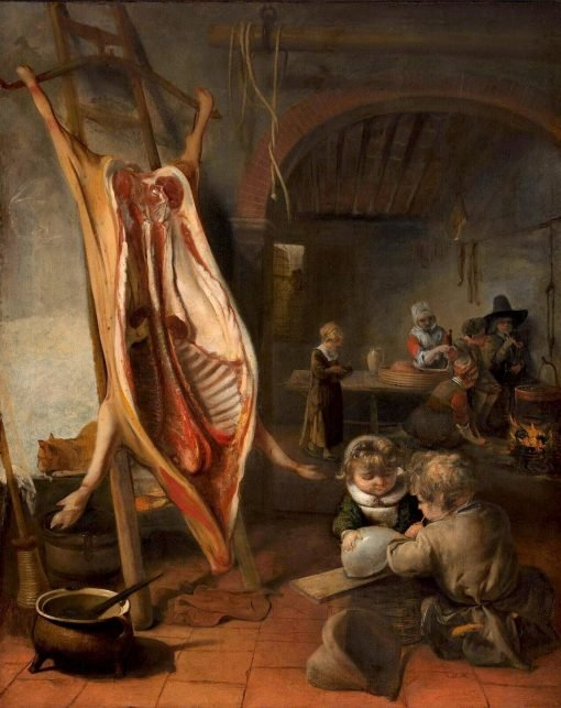 The Slaughtered Swine   Barent Fabritius   Oil Painting
