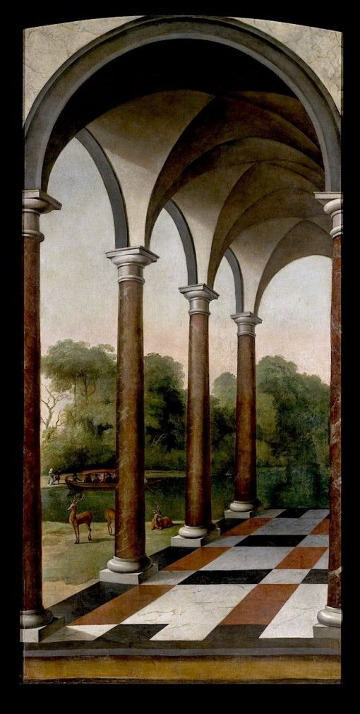 Colonnade Giving onto a Park | Barent Fabritius | Oil Painting