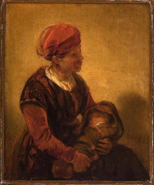 Woman with a Child in Swaddling Clothes   Barent Fabritius   Oil Painting
