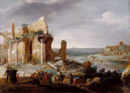 Moses and Aaron Changing the Rivers of Egypt to Blood | Bartholomeus Breenbergh | Oil Painting