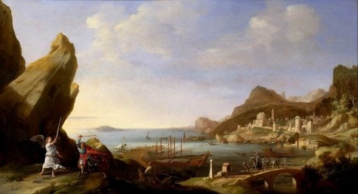 Coastal Landscape with Balaam and the Ass | Bartholomeus Breenbergh | Oil Painting
