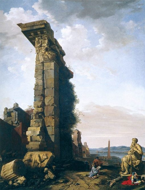 Idealised View with Roman Ruins