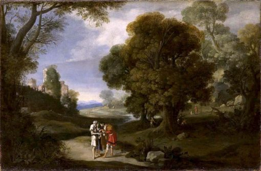 Landscape with Beggars and Roman Ruins | Bartholomeus Breenbergh | Oil Painting