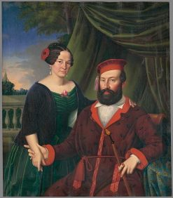 Baron Gustav Jacobs with his wife Matilda | Peter Michal Bohú? | Oil Painting