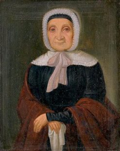 Old Woman Standing in a White Bonnet | Peter Michal Bohú? | Oil Painting