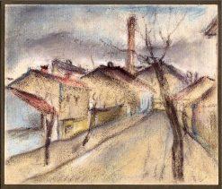 Ulica na periférií | Konštantín Bauer | Oil Painting