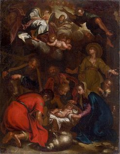 Adoration of the Shepherds | Abraham Bloemaert | Oil Painting