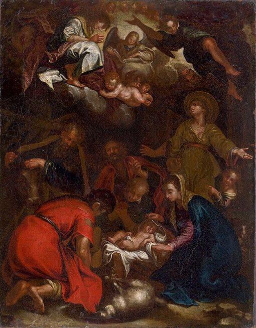 Adoration of the Shepherds   Abraham Bloemaert   Oil Painting