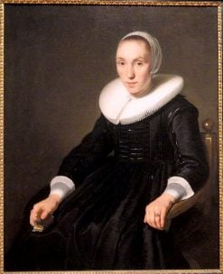 Portrait of a Young Woman with a Small Book   Bartholomeus van der Helst   Oil Painting