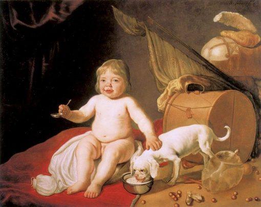 Boy with Spoon   Bartholomeus van der Helst   Oil Painting