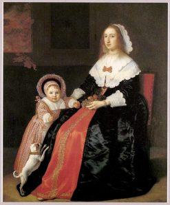Portrait of a Woman and Child | Bartholomeus van der Helst | Oil Painting