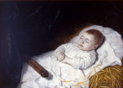 A Child's Deathbed Portrait | Bartholomeus van der Helst | Oil Painting