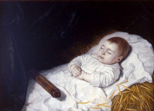 A Child's Deathbed Portrait   Bartholomeus van der Helst   Oil Painting