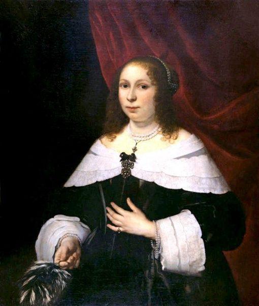 Lady in Black | Bartholomeus van der Helst | Oil Painting