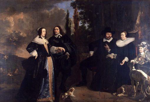 Family Portrait   Bartholomeus van der Helst   Oil Painting