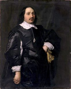 Portrait of a Man in Black | Bartholomeus van der Helst | Oil Painting