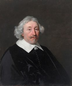Portrait of a Gentleman with White Hair | Bartholomeus van der Helst | Oil Painting