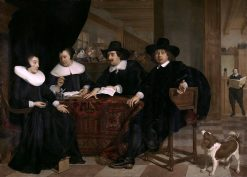 Two Governors and Two Lady Governors of the Spinhuis- | Bartholomeus van der Helst | Oil Painting