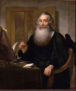 Portrait of Petrus Scriverius | Bartholomeus van der Helst | Oil Painting