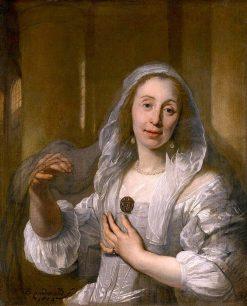Portrait of a Lady in White   Bartholomeus van der Helst   Oil Painting