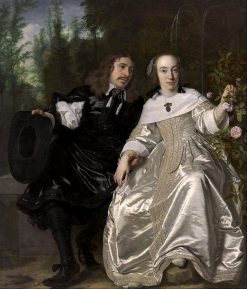 Abraham del Court and His Wife Maria de Kaersgieter | Bartholomeus van der Helst | Oil Painting