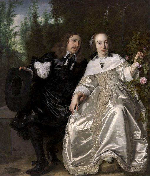 Abraham del Court and His Wife Maria de Kaersgieter | Bartholomeus van der Helst | Oil Painting