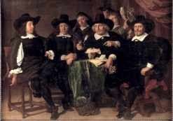 The Directors of the Amsterdam Civic Guard of St. George in 1656 | Bartholomeus van der Helst | Oil Painting