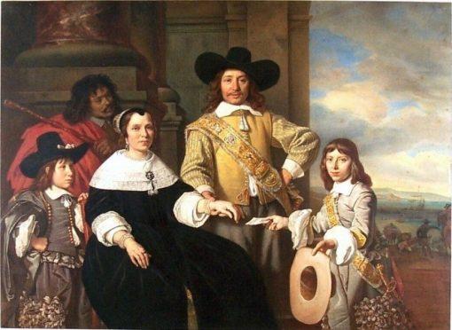 Family portrait of Rijcklof van Goens.... | Bartholomeus van der Helst | Oil Painting