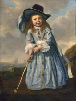 Portrait of a Boy Playing Golf by the Shore   Bartholomeus van der Helst   Oil Painting