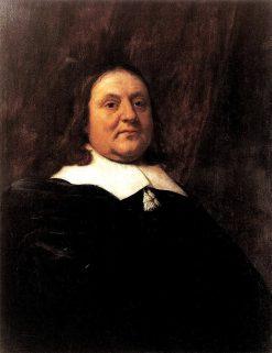 Portrait of a Man Leaning His Arm on a Ledge | Bartholomeus van der Helst | Oil Painting