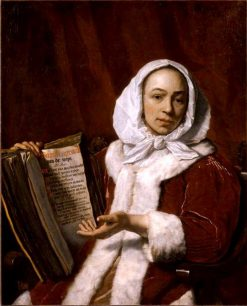 Portrait of a Woman with a Book | Bartholomeus van der Helst | Oil Painting