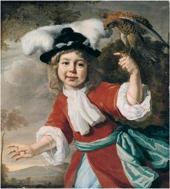 Portrait of a Young Boy With a Falcon | Bartholomeus van der Helst | Oil Painting