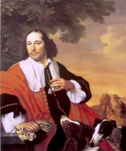 Portrait of a Man with his Dogs | Bartholomeus van der Helst | Oil Painting