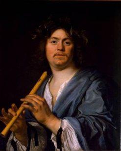 Portrait of a Flute Player   Bartholomeus van der Helst   Oil Painting