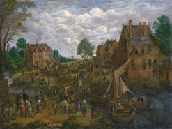 Dutch Fair   Jan Brueghel the Elder   Oil Painting
