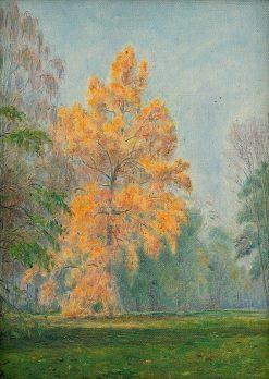 ltý strom v parku | Dezider Czölder | Oil Painting