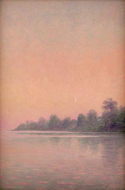 Ružové pobrežie s mesiacom | Dezider Czölder | Oil Painting