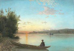 Bratislava-západ slnka | Dezider Czölder | Oil Painting
