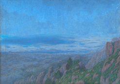 Poh?ad zo stráne s fialovými skalami | Dezider Czölder | Oil Painting